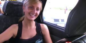 Horny Girl In Car