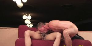 Ass fucking transgender cock sucked by guy