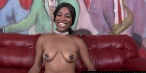 Girl riding atv naked