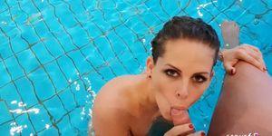 Teen Fuck Guest in Public Swimming Area German Luna Richter