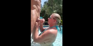 Mature Swimming Pool Fun
