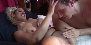 Facialized euro hooker plowed in threeway