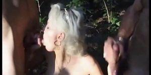 Couple split by Stranger in Forest