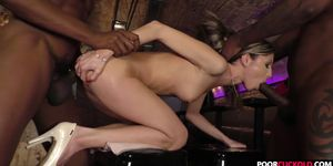 Cuck witness his wife Gina Gerson banging two BBCs