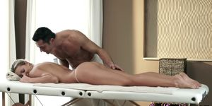 Alluring babe assfucked after massage