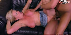EROCOM.TV - German big boobs milf with pussy piercings seduced