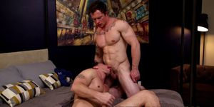 Lusty backdoor bandits waste no time bare backing wildly