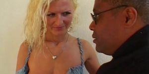 Sexy Blonde Milf Bribing A Black Fire Inspector