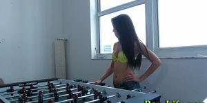 Tiny teen takes cumshot Porn Videos