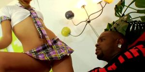 Teen blonde Chastity Lynn wants two BBC