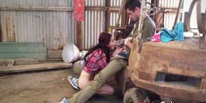 Real australian gfriend fucked and fingered in barn