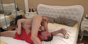 Monster Cock Shemale Hooker Blowjob Session with German Guy