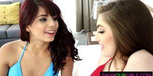 Gina Valentina and Kobi Brian making out