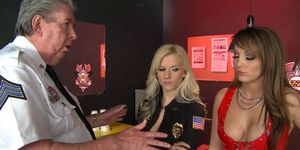 Brazzers - Hot And Mean - Prostitute Trains Sexy Cop scene starring Charlie Laine and Haley Cummings