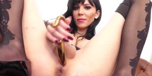 Horny Tgirl Bailey Paris toyed and barebacked by big cock