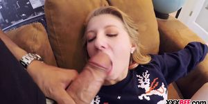 Cute best friends get fucked at xmas