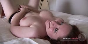 Canadian porn amateur fingers pussy with big natural tits Porn Videos