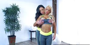 Brazzers - Hot And Mean - Personal Trainers scene starring Jelena Jensen and Kenzie Taylor