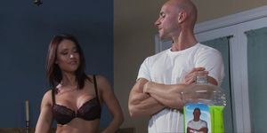 Mommy Got Boobs - Showin Skin to Mr Sins scene starring Franceska Jaimes and Johnny Sin
