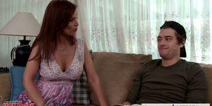 Busty brunette mom Syren De Mer take cock