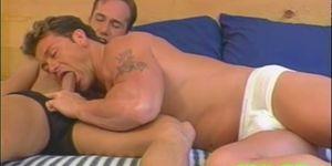 Muscular studs love sucking cock