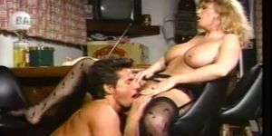 Wild Blonde Milf Bends Over For Some Hard Cock Action