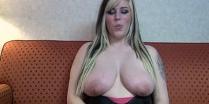 cute bbw on the porno casting couch