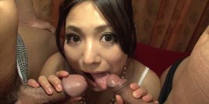 Kanade Otowa gets multiple cocks to play with in hot XXX
