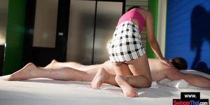 Amateur Thai MILF gives her client a good massage with a rimjob