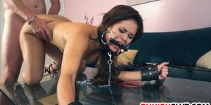 Angry gf Blair Summers is punished for running her mouth and left destroyed