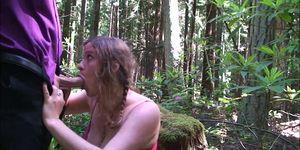 Cheerleader in the Woods
