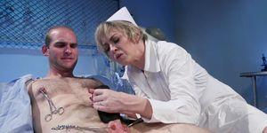 Huge tits Milf nurse anal fucks patient