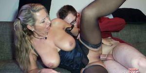 SCOUT69 - German Stepmom Help Huge Cock Virgin Boy with First Fuck