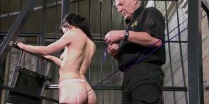 Slave Elise Graves needle bdsm and artistic punishment to tears of decorated masochist in extreme dungeon torments