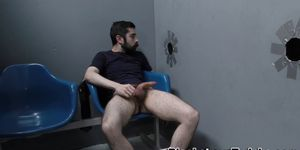 Bearded twink gets facial