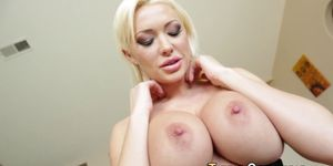 Hos big boobs jizzed POV