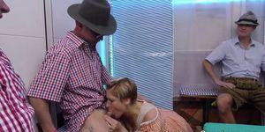 extreme lederhosen gangbang orgy Porn Videos