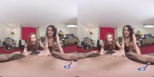 VR Porn Threesome With Denise And Ariadna BaDoink VR - BaDoinkVR (Denise Sky)