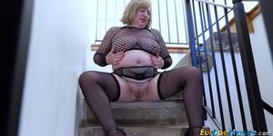 British Mature Solo Masturbation