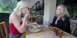 Chloe Temple and Carmen Valentina tribs into frenzy