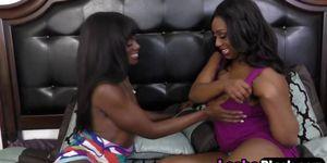 Busty ebony bitch has an adventurous friend