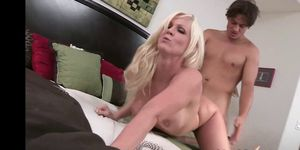 Blonde amateur MILF babe drilled roughly