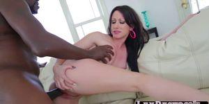 Brunette Jennifer WHite blows Lexs massive black cock