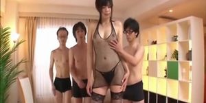 Sexy porny girls - Tall asian uncensored group sex
