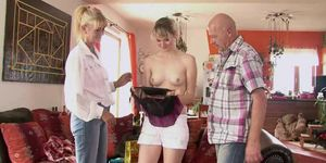 Hot threesome with his old parents Porn Videos