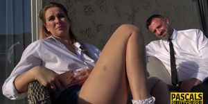 PASCALS SUB SLUTS - Throated Sub Gets Anally Pounded and Jizzed