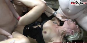 German hardcore creampie swinger party with huge cumshots