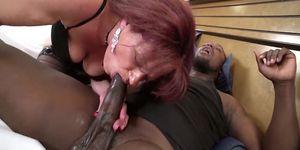 Gilf Fucks Big Black Cock In Interracial Video