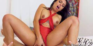 Super hot Canela Skin takes fat dick deep inside the ass