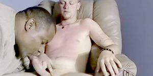 Blonde amateur jacks off cock and sucked by mature gays